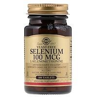 Solgar, Selenium, Yeast-Free, 100 mcg, 100 Tablets