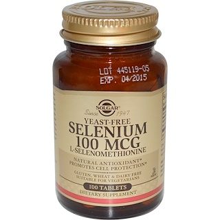 Solgar, Yeast-Free Selenium, 100mcg, 100 Tablets