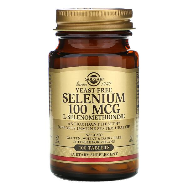 селен, бездрожжевой, 100мкг, 100таблеток