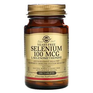 Солгар, Selenium, Yeast-Free, 100 mcg, 100 Tablets отзывы