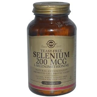 Solgar, Selenium, Yeast Free, 200 mcg, 250 Tablets