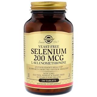 Solgar, セレニウム, 200 mcg, 250 タブレット
