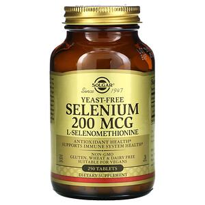 Солгар, Selenium, Yeast-Free, 200 mcg, 250 Tablets отзывы