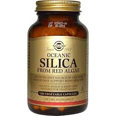 Solgar, 海洋シリカ(Oceanic Silica), 紅藻類から作成, 100粒(ベジタリアンカプセル)