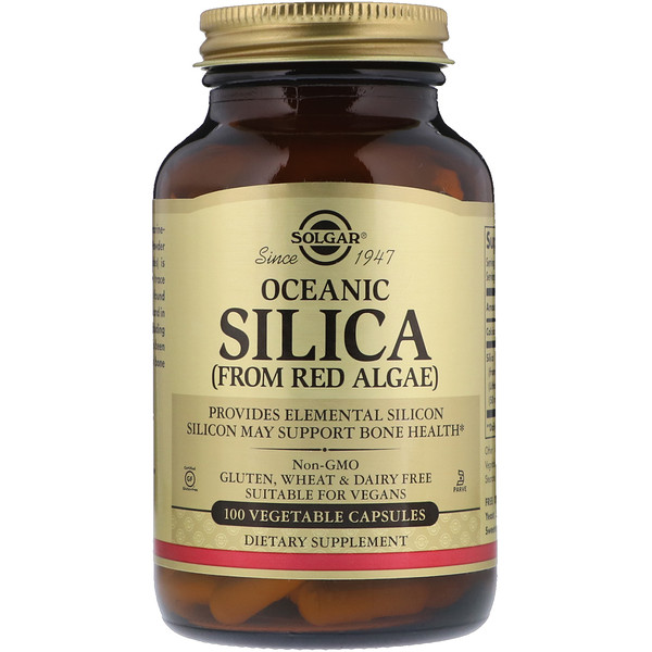 Solgar, Oceanic Silica, From Red Algae, 100 Vegetable Capsules