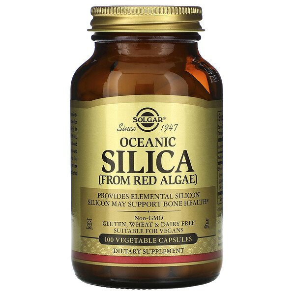 Solgar, Oceanic Silica From Red Algae, 100 Vegetable Capsules