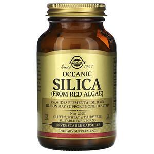 Солгар, Oceanic Silica From Red Algae, 100 Vegetable Capsules отзывы