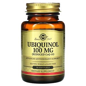 Солгар, Ubiquinol (Reduced CoQ10), 100 mg, 50 Softgels отзывы покупателей