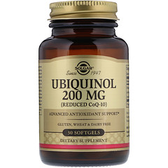 Solgar, Ubiquinol (Reduced CoQ10), 200 mg, 30 Softgels