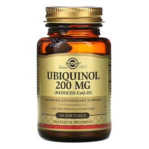 Солгар, Ubiquinol (Reduced CoQ10), 200 mg, 30 Softgels отзывы покупателей