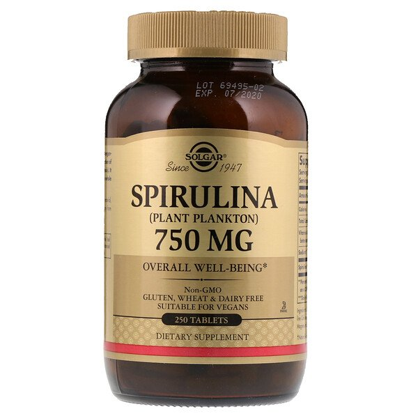 Spirulina, 750 mg, 250 Tablets
