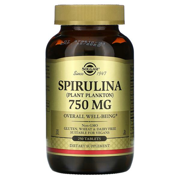 Spirulina, 750 mg, 250 Tablets