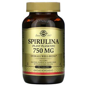 Солгар, Spirulina, 750 mg, 250 Tablets отзывы покупателей