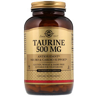 Аминоэтансульфокислота, 500 мг, 250 вегетарианских капсул - фото