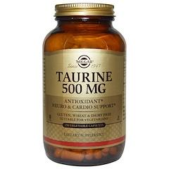 Solgar, 타우린, 500 mg, 250 베지 캡