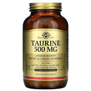 Солгар, Taurine, 500 mg, 250 Vegetable Capsules отзывы