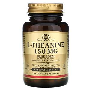 Солгар, L-Theanine, Free Form, 150 mg, 60 Vegetable Capsules отзывы покупателей