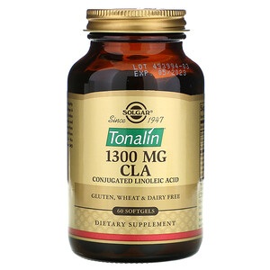 Солгар, Tonalin CLA, 1,300 mg, 60 Softgels отзывы покупателей
