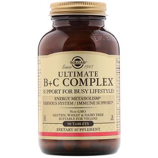 Solgar, Complejo B+C, Fórmula Antiestrés, 90 Comprimidos