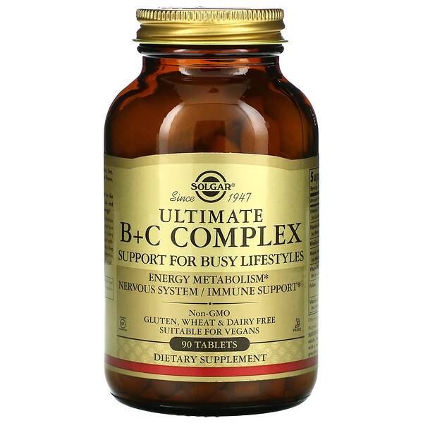 Ultimate B+C Complex, 90 Tablets