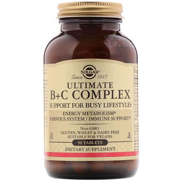 Solgar, Ultimate B+C Complex, 90 Tablets