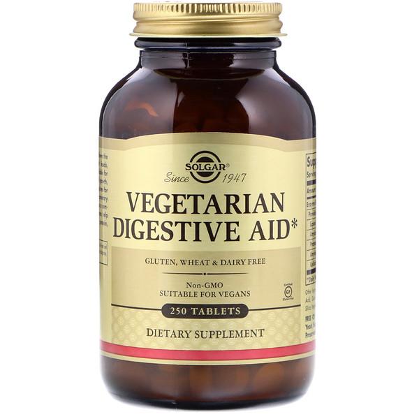 Vegetarian Digestive Aid, 250 Tablets