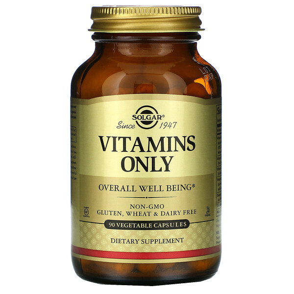 Vitamins Only, 90 Vegetable Capsules