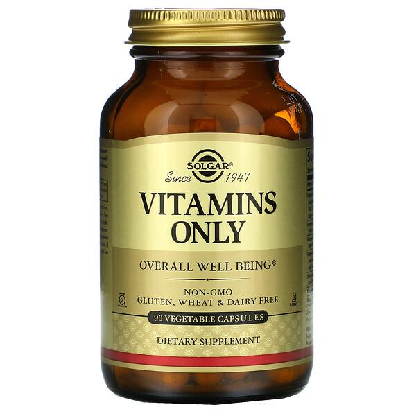 Solgar, Vitamins Only, 90 Vegetable Capsules