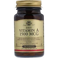 Сухой витаминА, 1500мкг, 100таблеток - фото