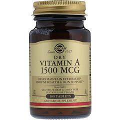 Solgar, فيتامين أ الجاف، 1500 ميكروغرام، 100 كبسولة