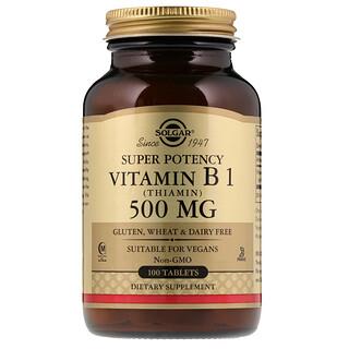 Solgar, Vitamin B1 (Thiamin), 500 mg, 100 Tablets