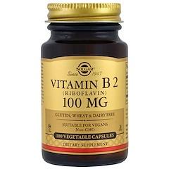 Solgar, Vitamin B2, 100 mg, 100 Vegetable Capsules