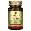 Solgar, витаминB2 (рибофлавин) 100мг, 100вегетарианских капсул