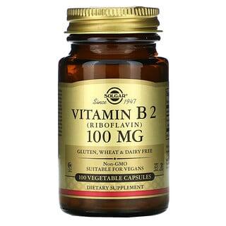 Solgar, Vitamina B2, 100 mg, 100 cápsulas vegetales
