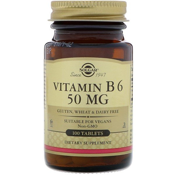 Vitamin B6, 50 mg, 100 Tabletten