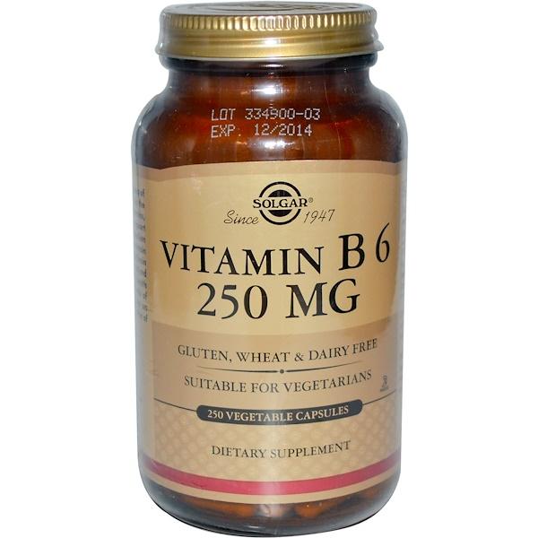 Solgar, Vitamin B6, 250 mg, 250 Veggie Caps (Discontinued Item)