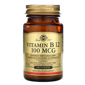 Солгар, Vitamin B12, 100 mcg, 100 Tablets отзывы покупателей