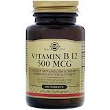 Отзывы о Solgar, Vitamin B12, 500mcg, 100 Tablets