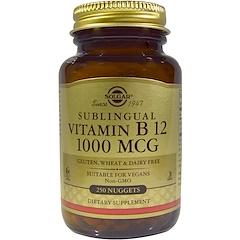 Solgar, Витамин B12, сублингвальный, 1000 мкг, 250 капсула