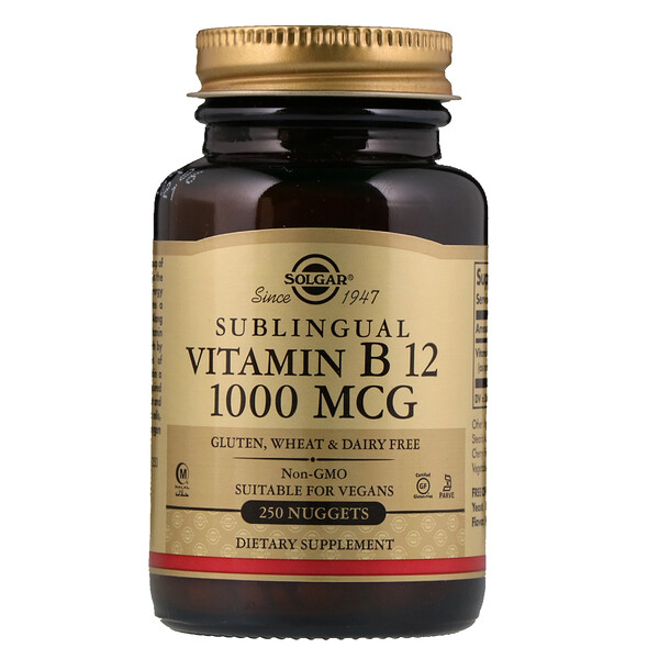 Sublingual Vitamin B12, 1,000 mcg, 250 Nuggets