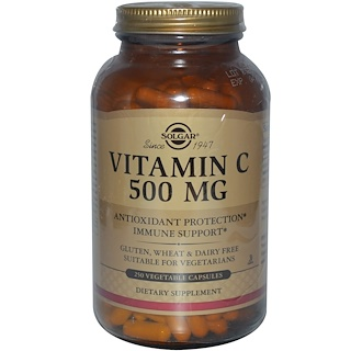 Solgar, ビタミンC、500 mg、250ベジカプセル