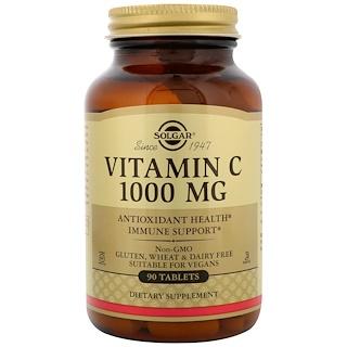 Solgar, Vitamin C, 1000mg, 90 Tablets