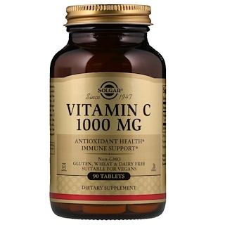 Solgar, Vitamin C, 1,000 mg, 90 Tablets