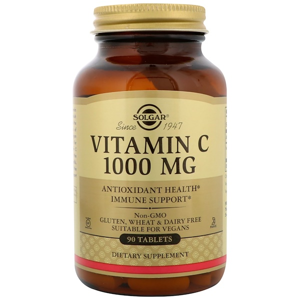 Solgar, Витамин С, 1000 мг, 90 таблеток