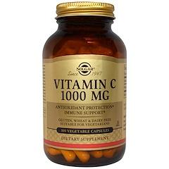 Solgar, Vitamin C, 1000 mg, 100 Vegetable Capsules