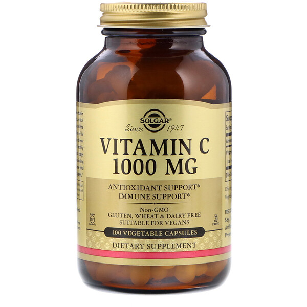 Vitamin C, 1,000 mg, 100 Vegetable Capsules