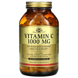 Solgar, Vitamin C, 1,000 mg, 250 Vegetable Capsules