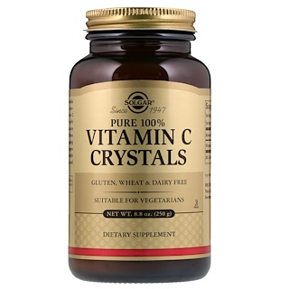Solgar, Pure 100% Vitamin C Crystals, 8.8 oz (250 g)