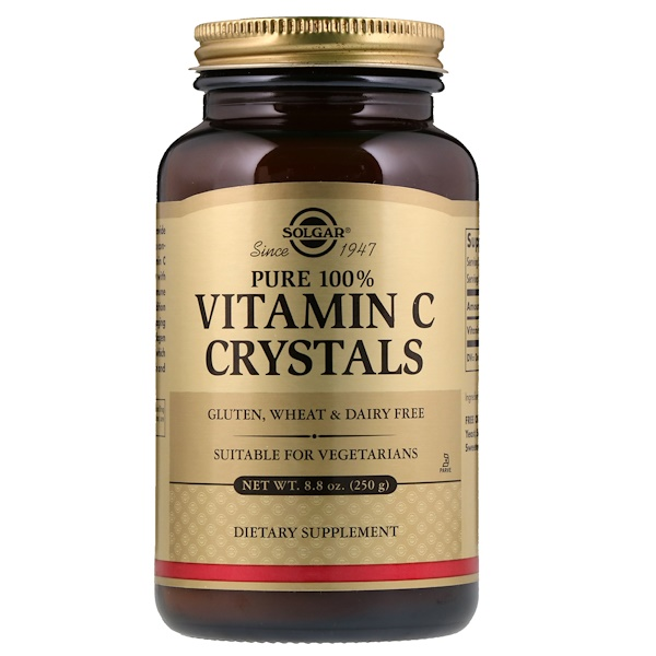 Solgar, 100% Pure Vitamin C en Cristaux, 8.8 oz (250 g)