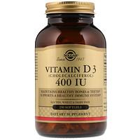 Витамин D3, 400 МЕ, 250 жидких гелевых капсул - фото
